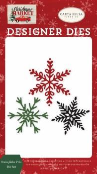 Christmas Market Designer Dies- Snowflake Trio