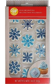 Icing Decorations- Snowflakes