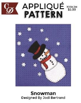 Applique Pattern- Snowman