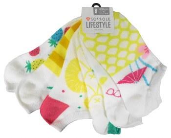 6pk No-Show Socks- Pineapple Friends