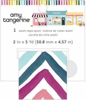 Amy Tangerine Slice of Life Washi Tape Wide Roll