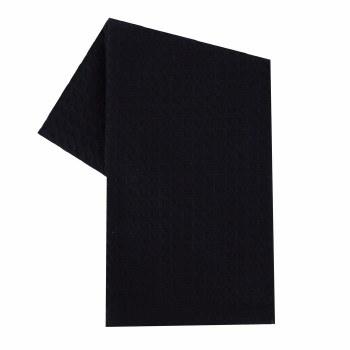 "Waffle Weave 20""x28"" Tea Towel- Black"