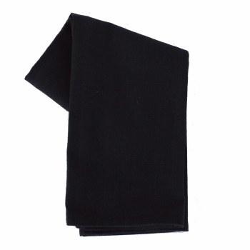 "Solid Weave 20""x28"" Tea Towel- Black"