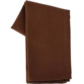 "Solid Weave 20""x28"" Tea Towel- Brown"