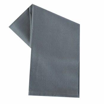 """Solid Weave 20""""x28"""" Tea Towel- Grey"""