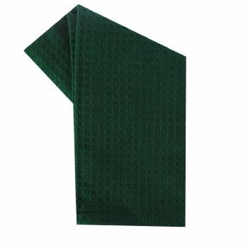 """Waffle Weave 20""""x28"""" Tea Towel- Green"""