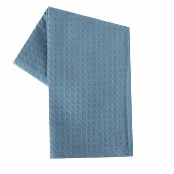 """Waffle Weave 20""""x28"""" Tea Towel- Light Blue"""