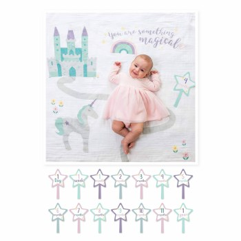 Baby's 1st Year Blanket & Card Set- Something Magical