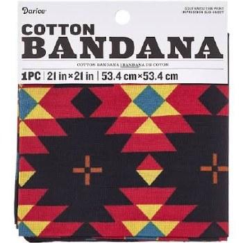 "Cotton Bandana 21""x21""- Southwest"