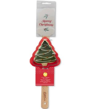 Spatula w/ Cookie Cutter- Merry Christmas Tree