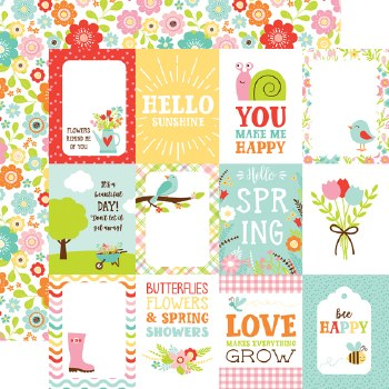 Spring Fling 12x12 Paper- 3x4 Cards