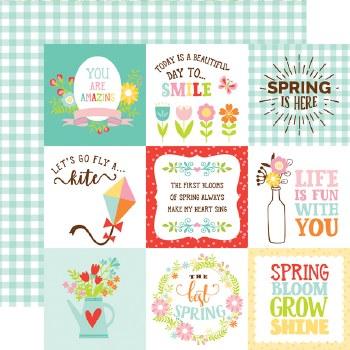 Spring Fling 12x12 Paper- 4x4 Cards