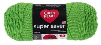Red Heart Super Saver Yarn- Spring Green