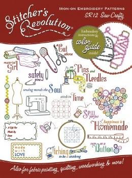 Stitcher's Revolution Embroidery Transfer Pattern- Sew Crafty
