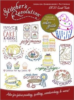 Stitcher's Revolution Embroidery Transfer Pattern- Sweet Treats