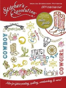 Stitcher's Revolution Embroidery Transfer Pattern- Wild Wild West
