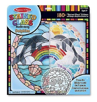Melissa & Doug Stained Glass Made Easy- Dolphins