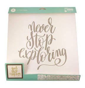 """Mix the Media Stencil Pack, 26ct- 12""""x12"""" Phrases"""