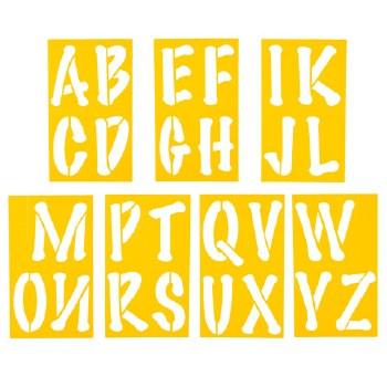 """Alphabet Stencils, 5""""- Bubbly Font"""