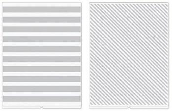 We R Memory Keepers Revolution Embossing Folders, 2pk- Stripes