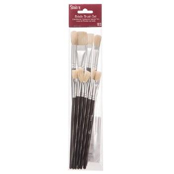 Studio 71 Brush Set- Bristle Brushes, 10pc