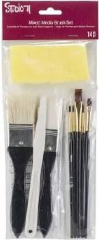 Studio 71 Brush Set- Mixed Media Brushes, 13pc
