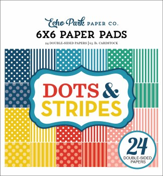 Dots & Stripes Summer 6x6 Paper Pad