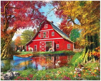 Sunny Barn - 1,000 Piece Puzzle