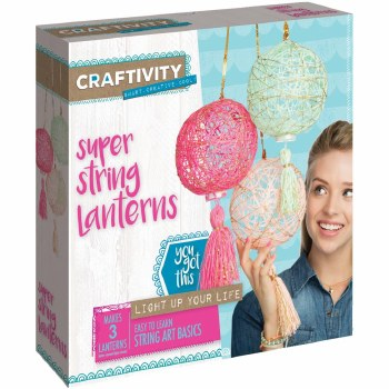 Creativity for Kids Craft Kit- Super String Lanterns
