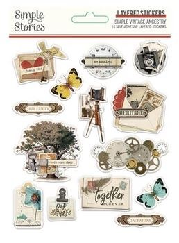 Ancestry Stickers- Layered