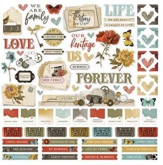 Ancestry Stickers- 12x12 Sheet