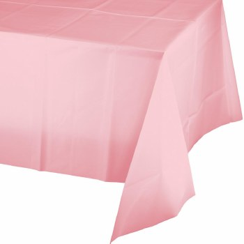 """Touch of Color Plastic Tablecover 54""""x108""""- Classic Pink"""