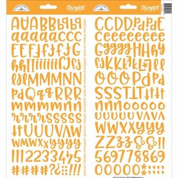 Abigail Alphabet Sticker- Tangerine