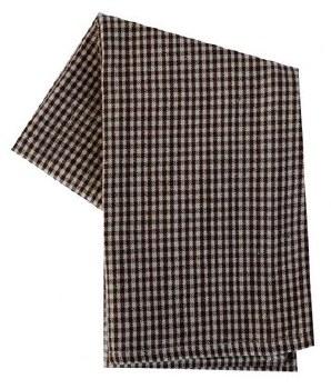 "Mini Check 20"" x 28"" Tea Towel- Brown & Cream"