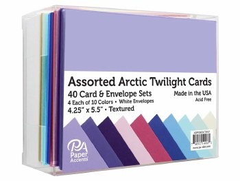 Boxed Card & Envelope Set, 40ct- Textured Artic Twilight