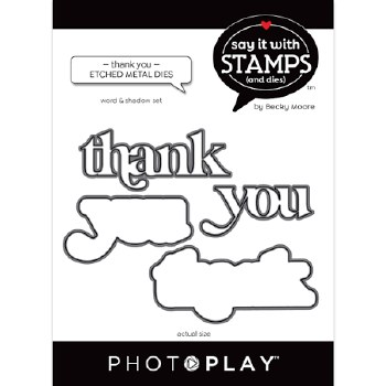 Say It in Stamps Thank You Metal Dies