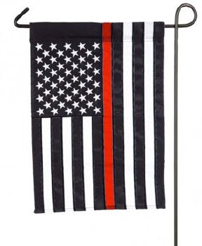 Garden Flag, Applique- Thin Red Line
