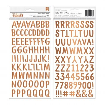 Jen Hadfield This Is Family Thickers- Copper Foil Alphabet
