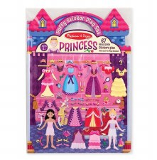 Melissa & Doug Reusable Puffy Sticker Kit- Princesses