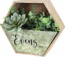 1.28.20: Personalized Faux Succlent Planter @ Beaver Island Brewing