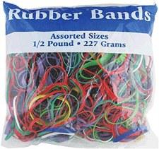 Rubber Bands, 1/2lb