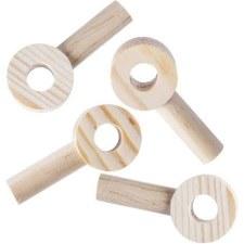 """Wooden Peg Circles 4pk, 1.38x3"""""""