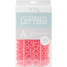 """DCWV Letterboard 1"""" Letters- Coral"""
