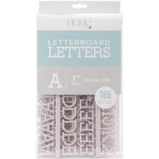 "DCWV Letterboard 1"" Letters- Gray"