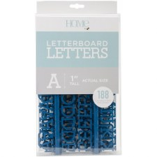 """DCWV Letterboard 1"""" Letters- Navy"""