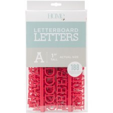 """DCWV Letterboard 1"""" Letters- Red"""