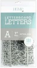 "DCWV Letterboard 1"" Letters- Silver"