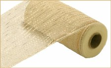 "Geomesh Roll 10"" x 10yd- Cream w/ Gold Foil"