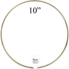 """Gold Metal Ring, 10"""""""