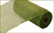 "Geomesh Roll 10"" x 10yd- Moss/Apple w/ Lime Foil"